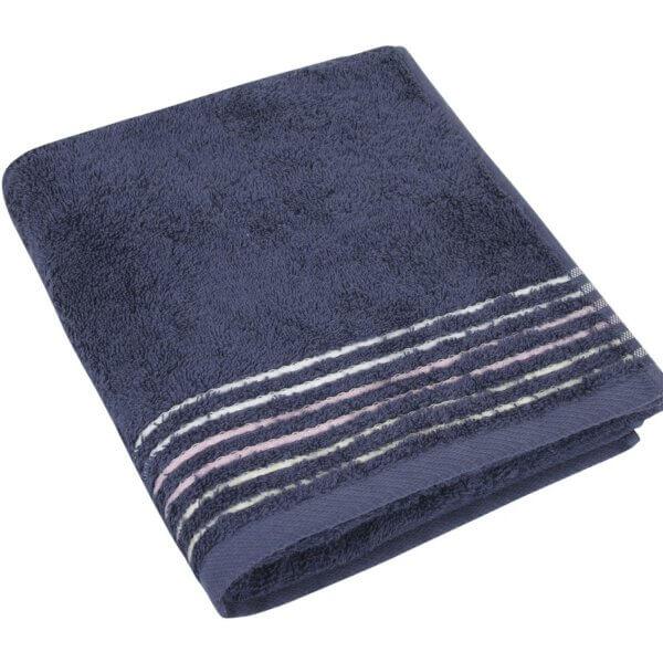 Bavlněný ručník Fialová kolekce 50×100 cm barva fialovo-šedá