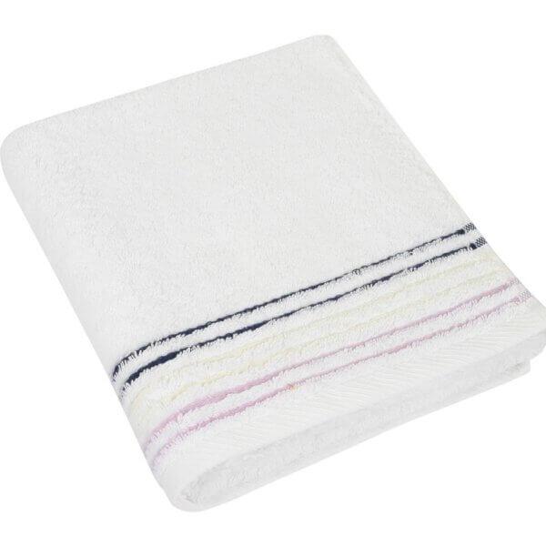 Bavlněná osuška Fialová kolekce 70×140 cm barva bílá