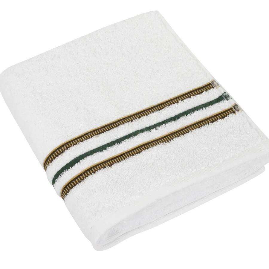 Bavlněný ručník Zelená kolekce 50×100 cm barva bílá