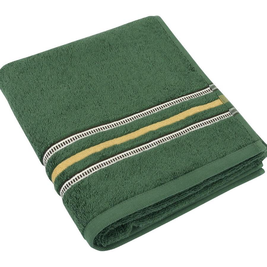 Bavlněná osuška Zelená kolekce 70×140 cm barva tmavě zelená