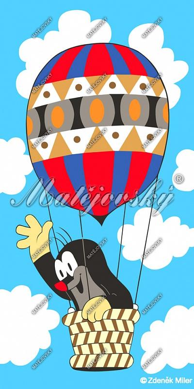 Osuška Krteček v balonu