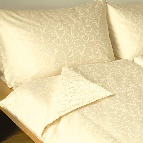 Povlečení damašek Ornella Natural Cotton žlutá