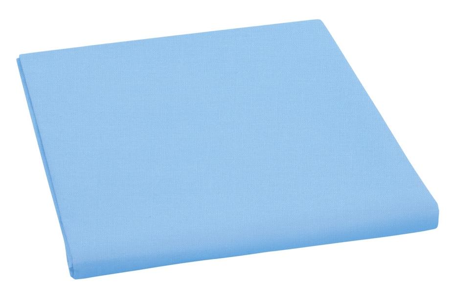 Plátěné prostěradlo plachta sv. modrá 150×230 cm