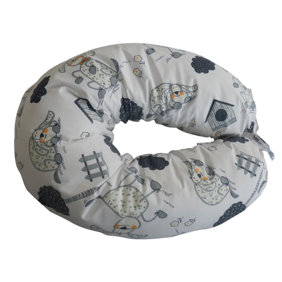 Povlak na kojící polštář šedí pejsci