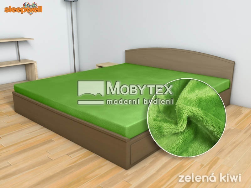 Prostěradlo Mikroflanel zelená kiwi