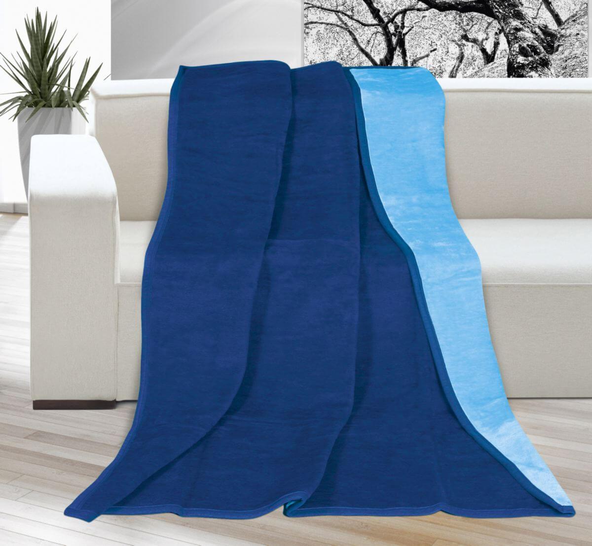Deka Kira plus jednolůžková tmavě modrá/světle modrá