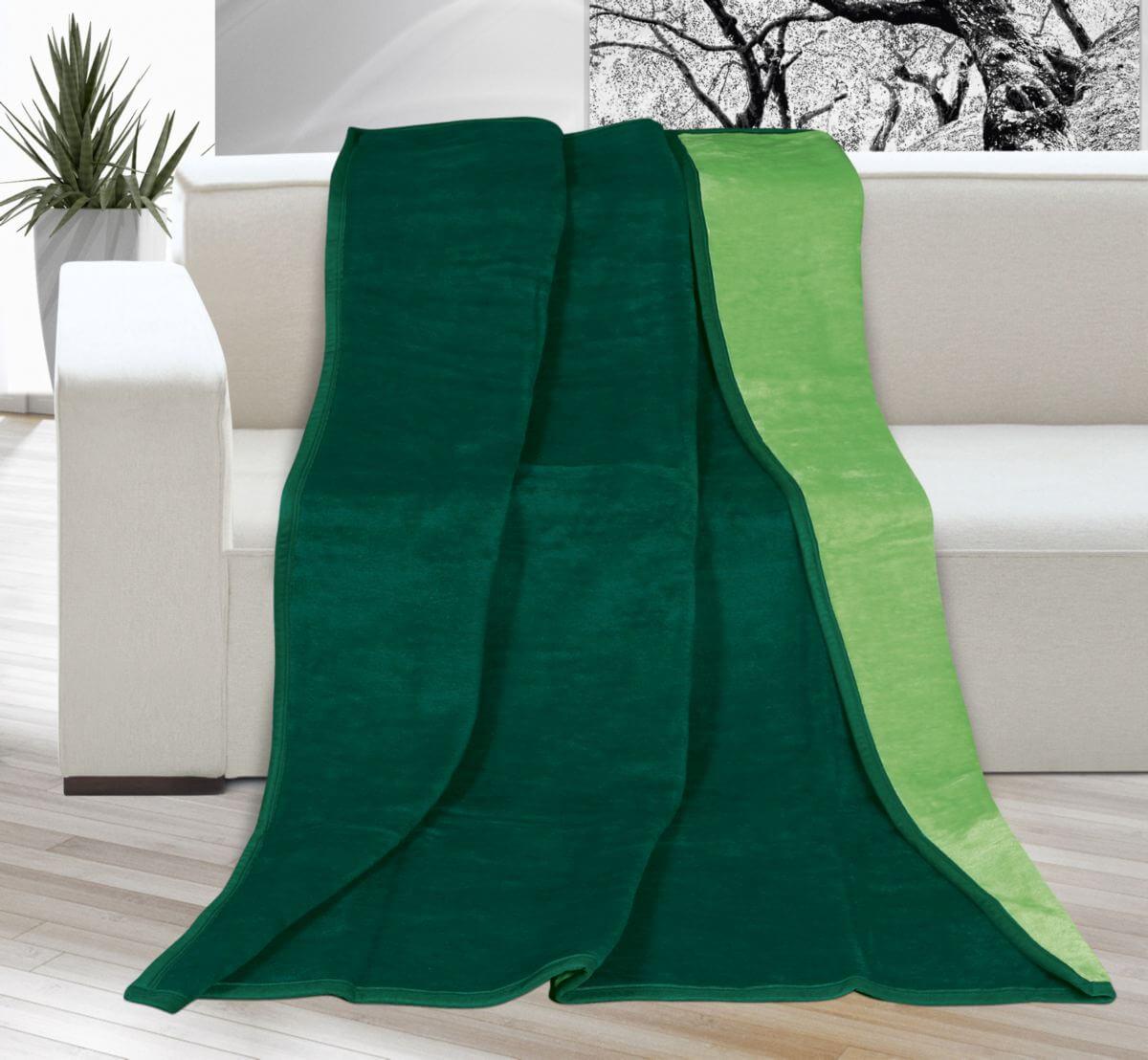 Deka Kira plus jednolůžková tmavě zelená/zelená