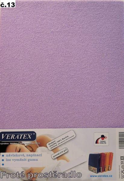 Froté prostěradlo fialková Veratex 210 g