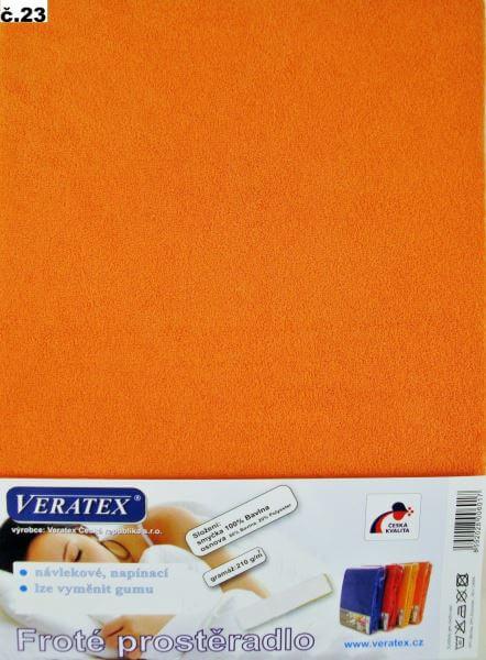 Froté prostěradlo oranžová Veratex 210 g