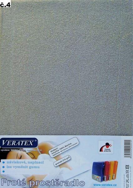 Froté prostěradlo šedá Veratex 210 g
