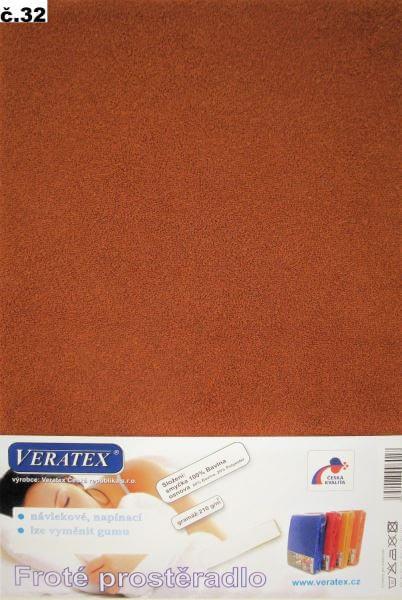 Froté prostěradlo skořicová Veratex 210 g