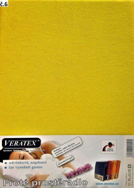 Froté prostěradlo stř. žlutá Veratex 210 g