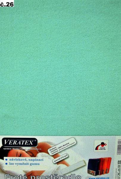 Froté prostěradlo tyrkysová Veratex 210 g