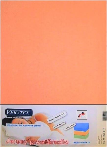 Bavlněné Jersey prostěradlo lososová Veratex 180 g