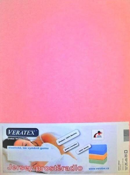 Bavlněné Jersey prostěradlo růžová Veratex 180 g