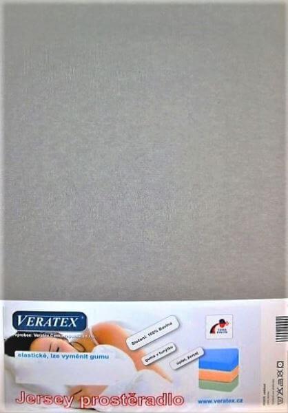 Bavlněné Jersey prostěradlo šedá Veratex 180 g