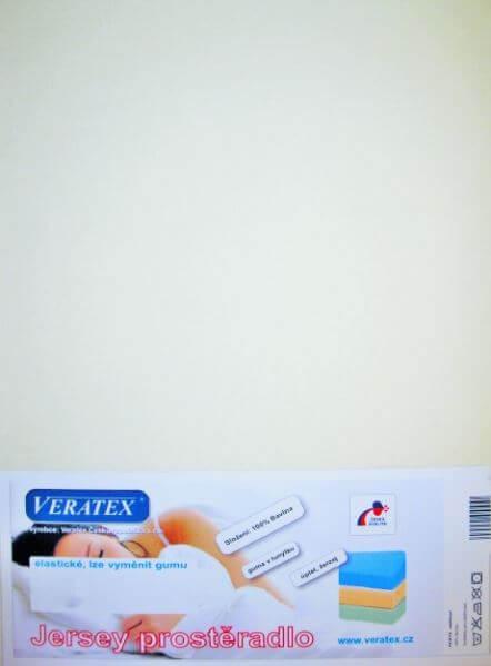 Bavlněné Jersey prostěradlo smetanová Veratex 180 g