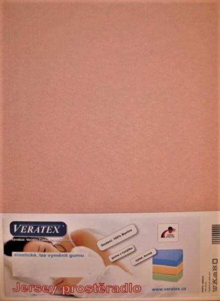 Bavlněné Jersey prostěradlo starorůžová Veratex 180 g