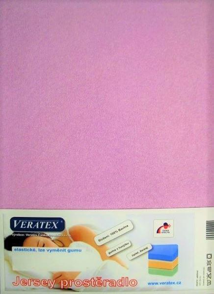 Bavlněné Jersey prostěradlo fialková Veratex 180 g