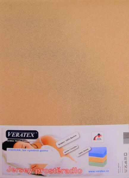 Bavlněné Jersey prostěradlo sv. hnědá Veratex 180 g