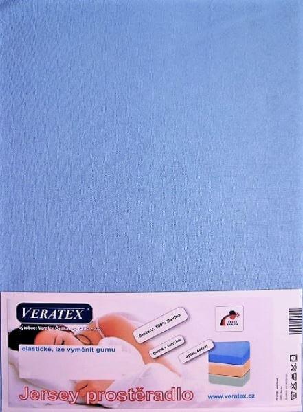Bavlněné Jersey prostěradlo sv. modrá Veratex 180 g
