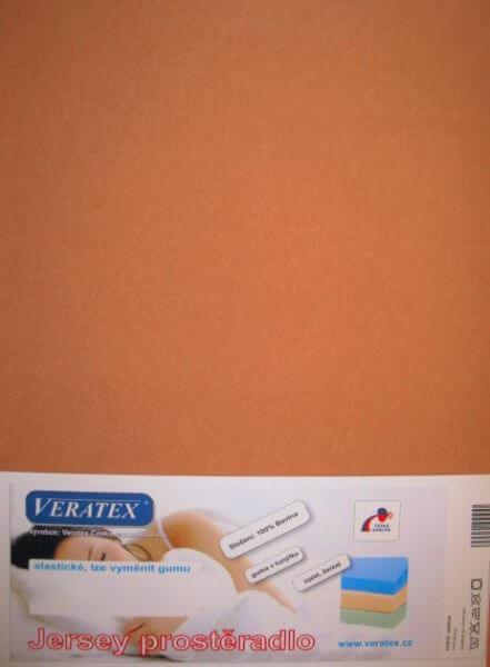 Bavlněné Jersey prostěradlo sv. rezavá Veratex 180 g