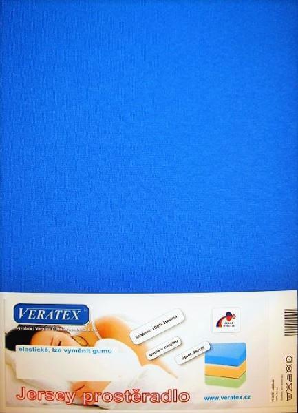 Bavlněné Jersey prostěradlo tm. modrá Veratex 180 g