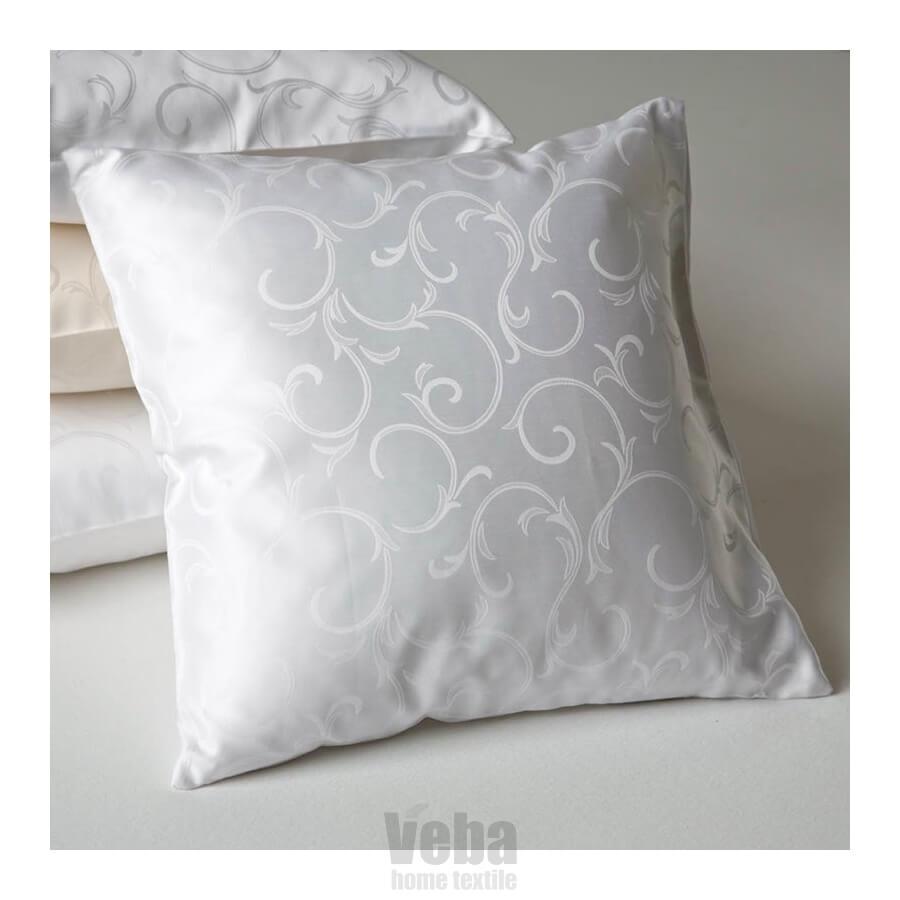 Povlečení damašek Ornella natural cotton bílá
