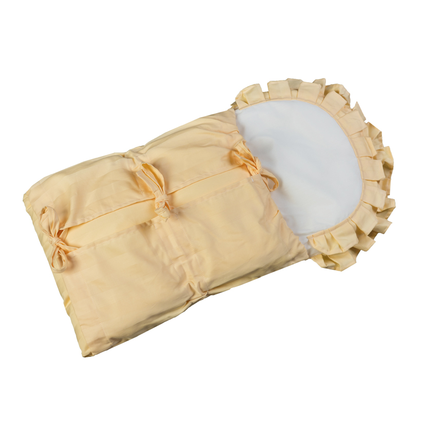 Zavinovačka s tkanicemi a kanýrem meruňkový damašek