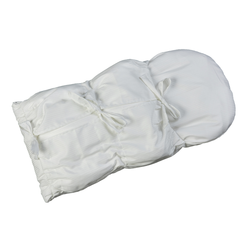Zavinovačka s tkanicemi bílý damašek