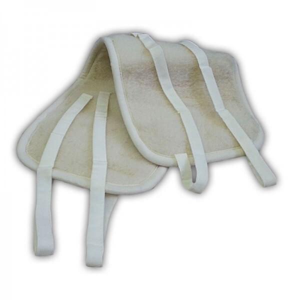 Oboustranný ledvinový pás z ovčí vlny Merino