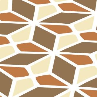 Bavlna smetanovo-hnědé kosočtverce 9379-33