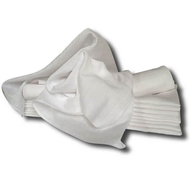 Pleny látkové 70×70 cm bílé 10 ks v balení