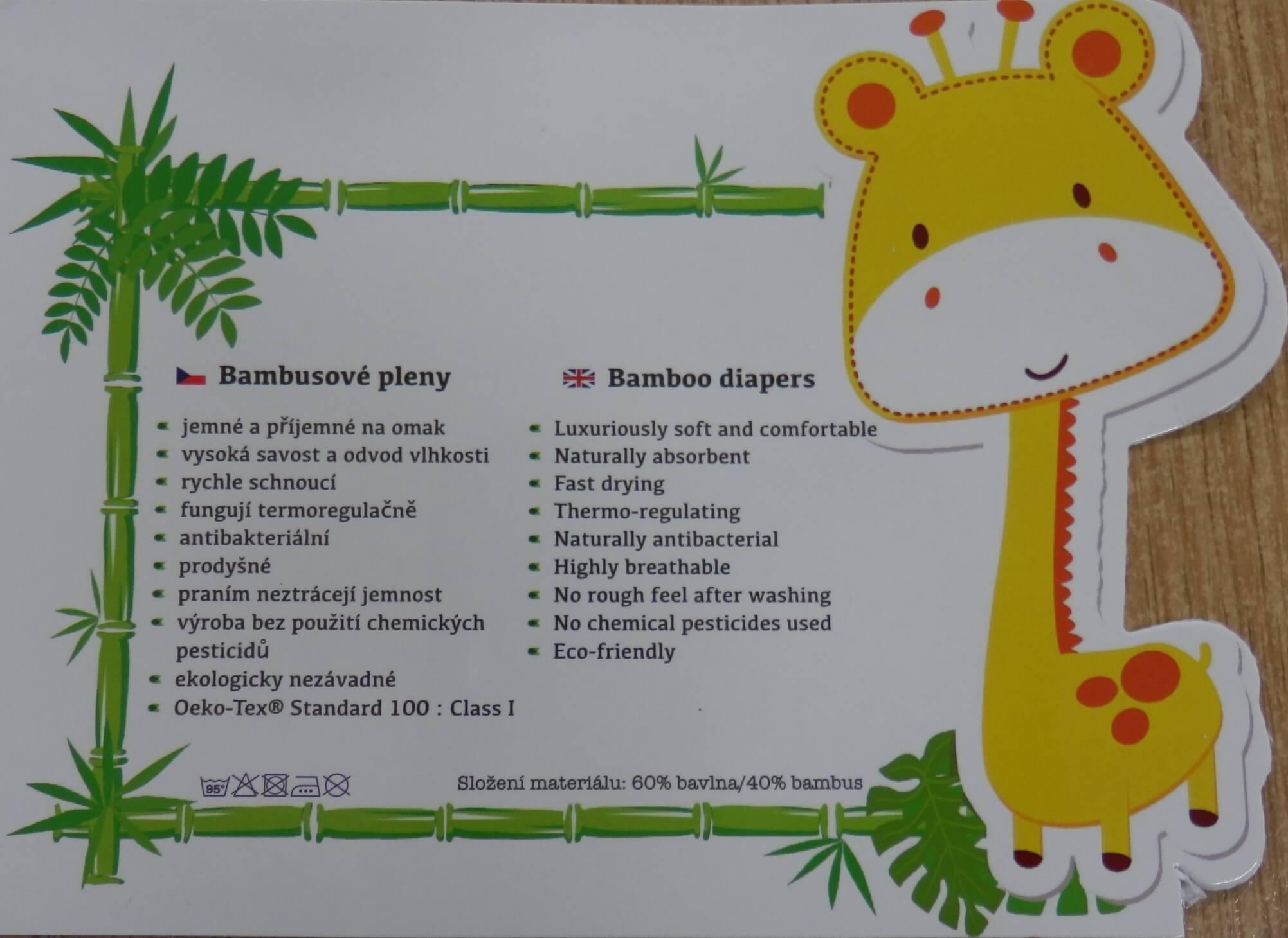 Plena bambusová 70×70 cm bílá
