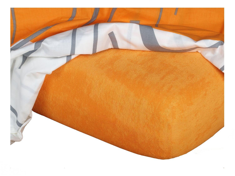 Froté prostěradlo pomeranč