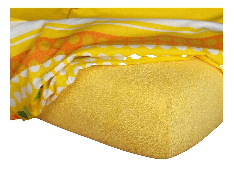 Froté prostěradlo tmavě žlutá