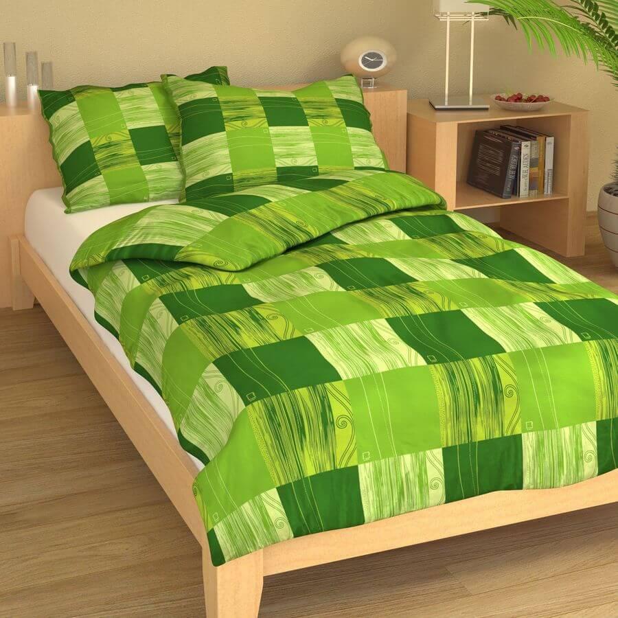 Krep čtverce zelené 9223-42