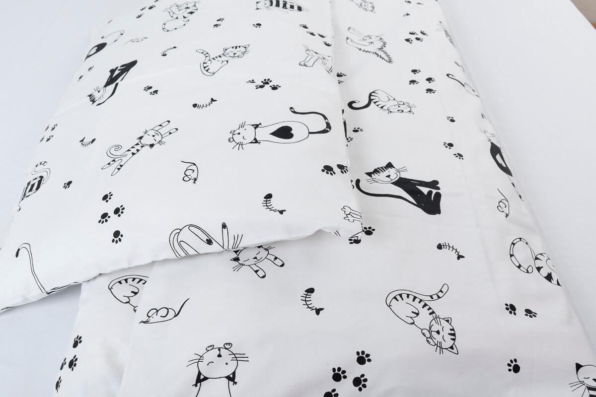 Dětské povlečení bavlna kočičky na bílé