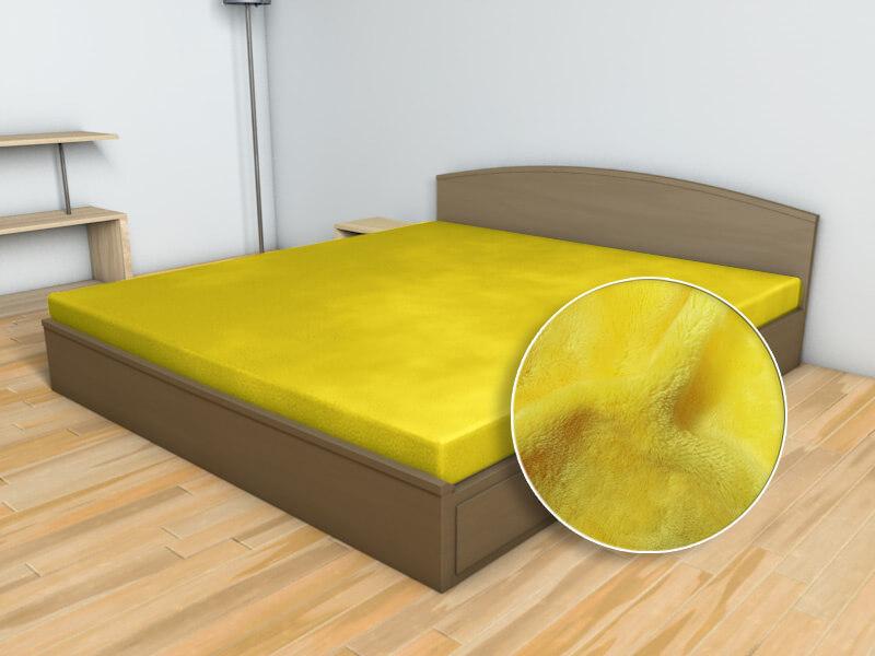 Prostěradlo Mikroflanel žlutá