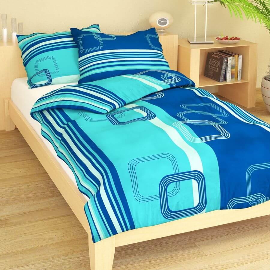 Krep geometrie modrá 9295-46
