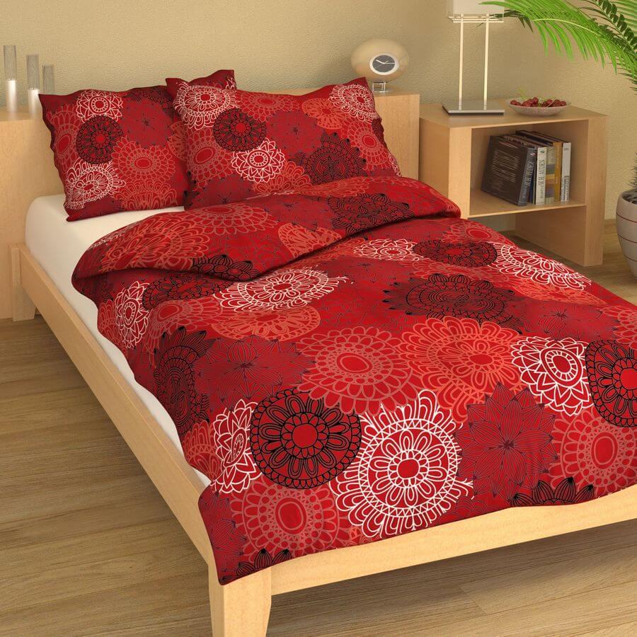 Povlečení bavlna výšivka červená 9364-68