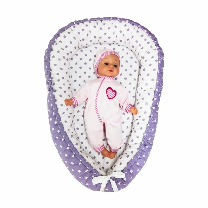 Hnízdečko pro miminko hvězdičky fialové