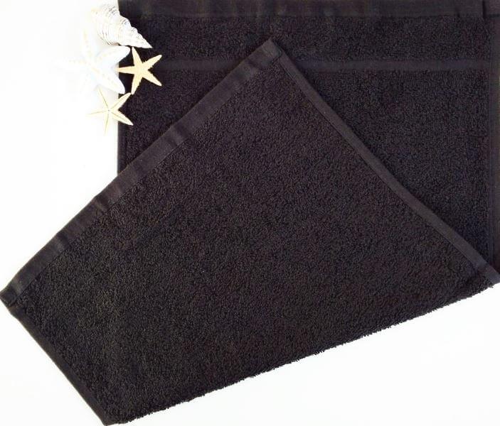 Dětský ručník froté 30×50 cm černý