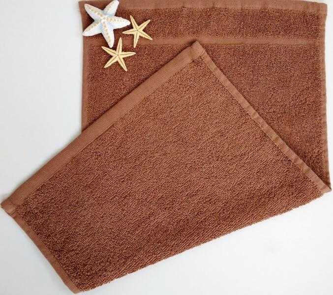 Dětský ručník froté 30×50 cm hnědý