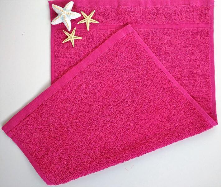 Dětský ručník froté 30×50 cm purpurový