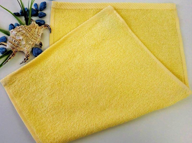 Dětský ručník froté 30×50 cm světle žlutý