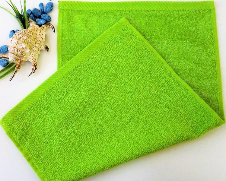 Dětský ručník froté 30×50 cm žlutozelený