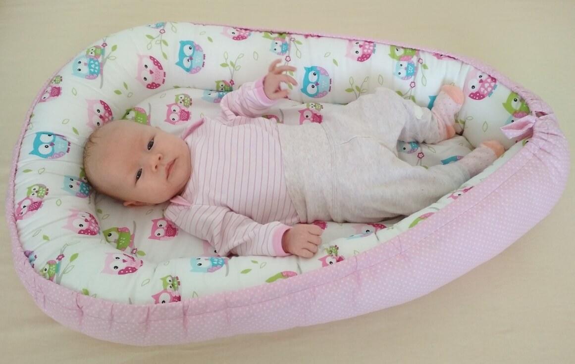 Hnízdečko pro miminko sovičky/růžový puntík