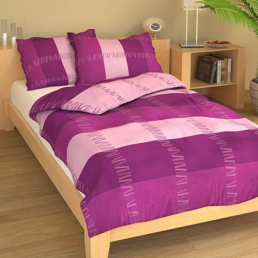 Krep fialovo-růžové vlny 9271-42