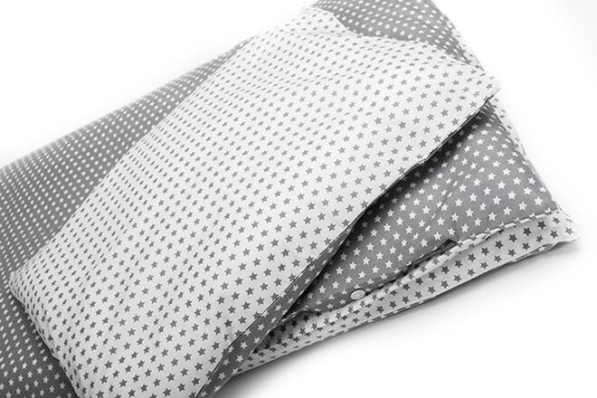 Povlečení bavlna hvězdičky šedé do kombinace